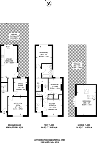 Large floorplan for Kenbury Street, Brixton, SE5
