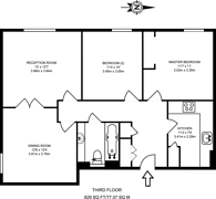 Large floorplan for Blackwall Way, Canary Wharf, E14