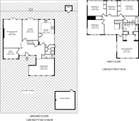 Large floorplan for Oaklodge Way, Mill Hill, NW7