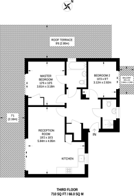 Large floorplan for Evan Cook Close, Peckham, SE15
