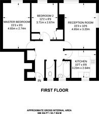 Large floorplan for Queen Caroline Street, Hammersmith, W6