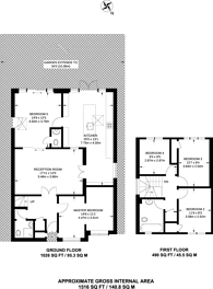 Large floorplan for Morland Close, Hampton, TW12