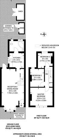 Large floorplan for Ranelagh Road, West Ham, E15