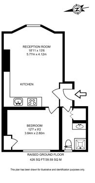 Large floorplan for Blenheim Crescent, Notting Hill, W11