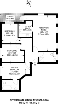 Large floorplan for Teignmouth Road, Mapesbury Estate, NW2