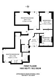 Large floorplan for Chiltern Street, Marylebone, W1U