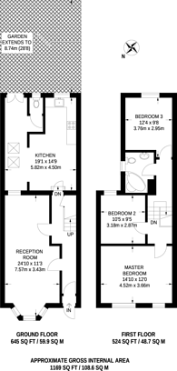 Large floorplan for Queens Road, Walthamstow, E17
