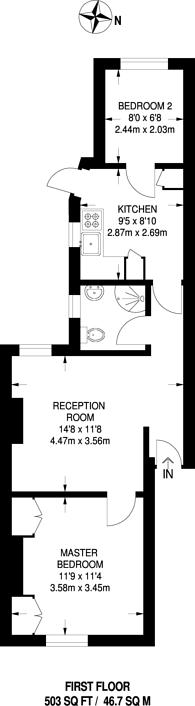 Large floorplan for Cavell Street, Whitechapel, E1