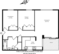 Large floorplan for Hipley Court, Guildford, GU1