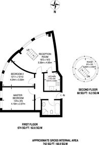 Large floorplan for Arragon Road, Twickenham, Twickenham, TW1