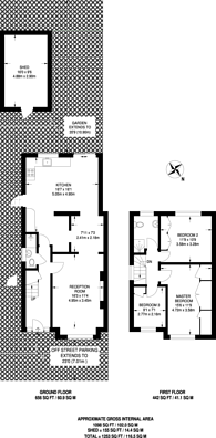 Large floorplan for River Way, Twickenham, TW2