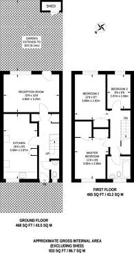 Large floorplan for Coleridge Close, Diamond Conservation Area, SW8