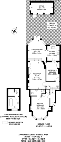 Large floorplan for Muswell Road, Muswell Hill, N10