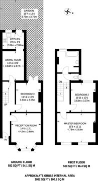 Large floorplan for Arlingford Road, Brixton, SW2