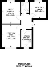 Large floorplan for Upper Tulse Hill, Brixton Hill, SW2