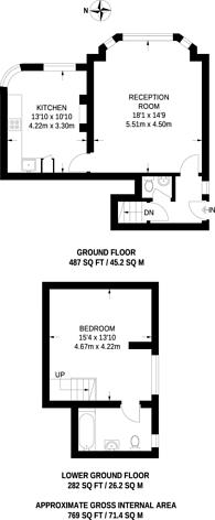 Large floorplan for Park Lane, Central Croydon, CR0