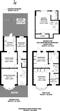 Large floorplan for Dewsbury Road, Dollis Hill, NW10