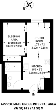 Large floorplan for Baynes Street, Camden Town, NW1