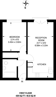 Large floorplan for Capulet Square, Bow, E3