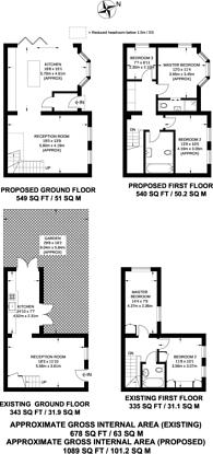 Large floorplan for Vant Road, Tooting, SW17