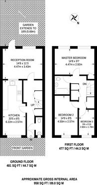 Large floorplan for Kingston Square, Gipsy Hill, SE19
