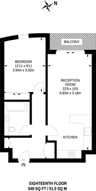 Large floorplan for Waterview Drive, Greenwich, SE10