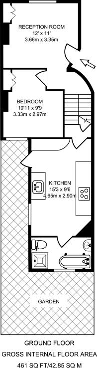 Large floorplan for Besley Street, Streatham, SW16