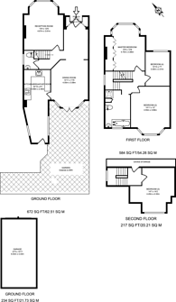 Large floorplan for South Lodge Drive, Oakwood, N14