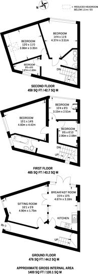 Large floorplan for Conway Road, Harringay, N15