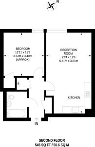 Large floorplan for Peter Heathfield House, Stratford, E15