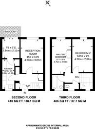 Large floorplan for Brooksbys Walk, Clapton, E9