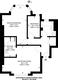 Large floorplan for Wood Vale, Dulwich, SE23