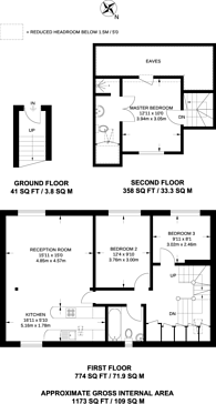 Large floorplan for Anchor Mews, Clapham South, SW12