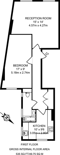 Large floorplan for Park Road, Crouch End, N8