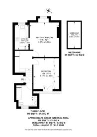 Large floorplan for Coleherne Road, Chelsea, SW10