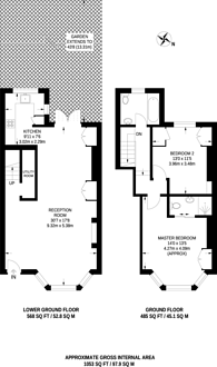 Large floorplan for Stockwell Road, Brixton, SW9