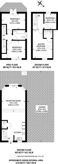 Large floorplan for Panmure Road, Sydenham, SE26