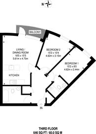 Large floorplan for Whitestone Way, Croydon, CR0