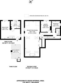 Large floorplan for Richmond Road, St Margarets, TW1