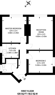 Large floorplan for Devonshire Road, Forest Hill, SE23