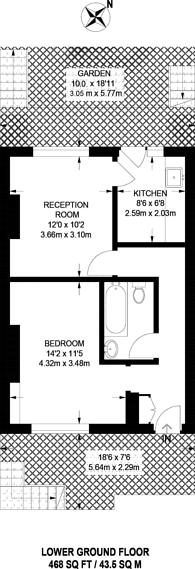 Large floorplan for Wharton Street, Finsbury, WC1X