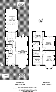 Large floorplan for Wolseley Road, Crouch End, N8
