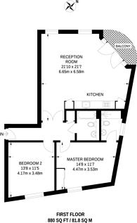 Large floorplan for Quaker Street, Spitalfields, E1