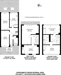 Large floorplan for St Pauls Square, Bromley, BR2