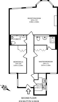 Large floorplan for Berkeley Street, Mayfair, W1J