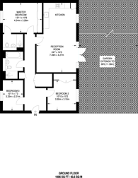 Large floorplan for Reeves Court, North Finchley, N12