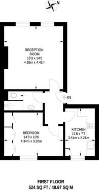 Large floorplan for Ladbroke Grove, Notting Hill, W10