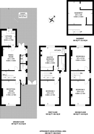 Large floorplan for Maswell Park Road, Hounslow, TW3