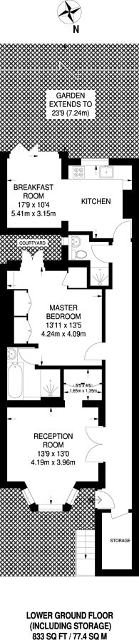 Large floorplan for Finborough Road, Chelsea, SW10