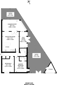 Large floorplan for Madoc Close, Child's Hill, NW2